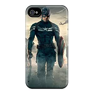 AlainTanielian Iphone 4/4s Great Cell-phone Hard Cover Unique Design Fashion Captain America The Winter Soldier Movie Pattern [qNx13514JFLq]