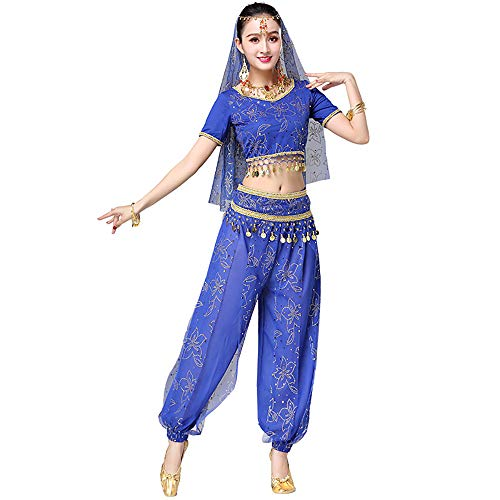 BT-GIRL Women's Halloween Costume Tops Skirt Set with Accessories Belly Dance Performance Outfit 4 -