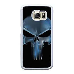 Grouden R Create and Design Phone Case,Cartoon-Punisher Emblem Cell Phone Case for Samsung Galaxy S6 Edge White + 1*Touch Stylus Pen (Free) GHL-2871298