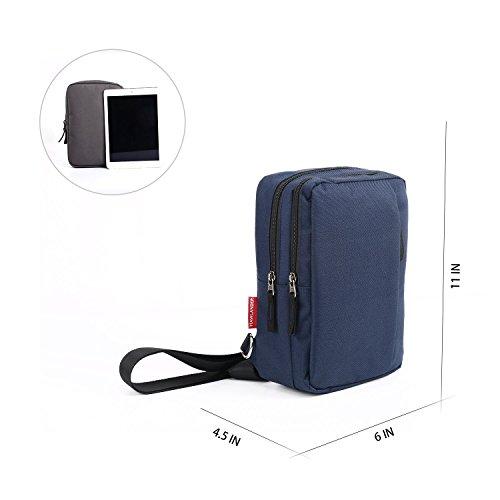Classic Lightweight Casual Messenger Bag Canvas Satchel Vintage Shoulder Crossbody Bag Briefcase for Men and Women (Navy Blue) by EBEYUKI (Image #1)