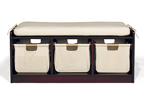 Price comparison product image WonkaWoo Kids Deluxe Storage Bench,  Espresso,  One Size