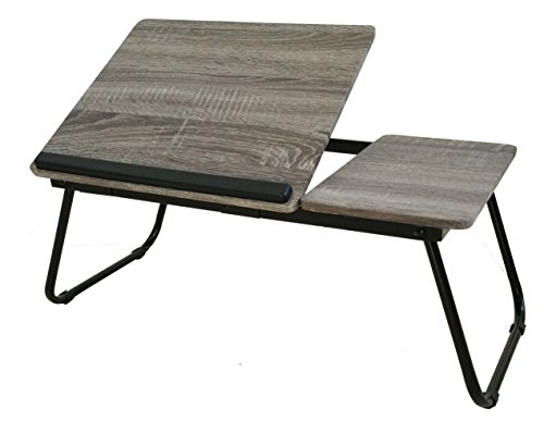 Black Laptop Desk Stand Foldable Large Size Portable Adjustable Tilting Home and Office Lap Desk Bed Tray ()
