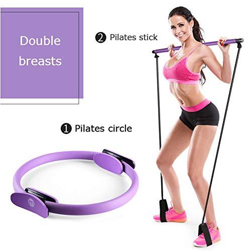 XZJUL Yoga Exercises Stretch Band Portable Pilates,Tension Band Home Gym Total Body Workout Resistance Rehabilitation…