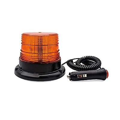 Tumecos Emergency Magnetic Flashing Warning Beacon Vehicle Warning Led Strobe Light with 12v Cigarette Lighter Plug Amber: Automotive