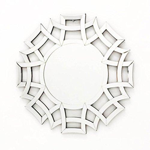Fab Glass and Mirror Fab-WSTC015 Decorative Sunburst Bathroom Wall - Glasses Mirror Shaped