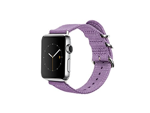 Monowear Nylon Apple Watch Band with Easy Slide in Elegan...