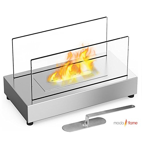 Great Deal! Moda Flame Vigo Table Top Ethanol Fireplace Stainless Steel