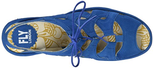 Fly London Yexa916fly, Sandales Bout Ouvert Femme Bleu (Electric Blue White Sole)