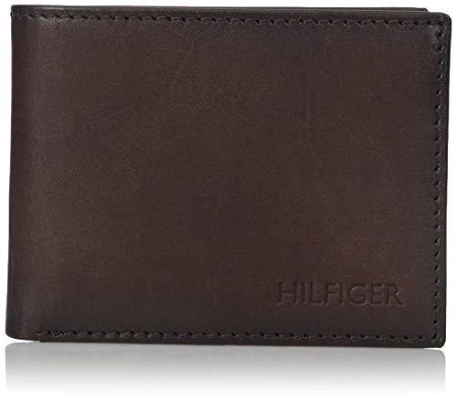 Tommy Hilfiger Men's Bergen Pass Case Billfold Wallet, Brown, One Size