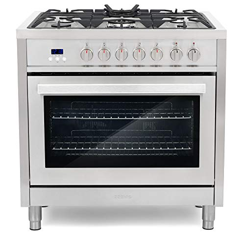 Cosmo F965 36-Inches Dual Fuel Gas Range with 3.8 cu.