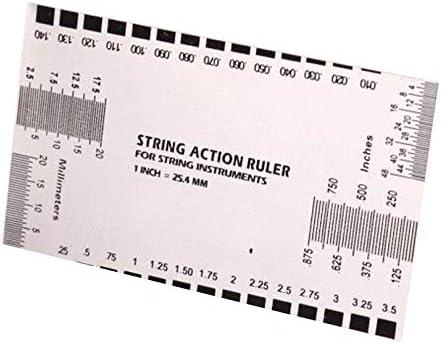 Herramienta de calibrador de regla de acción de cuerda de guitarra eléctrica acústica duradera en/mm para guitarra baja Mandolina Banjo Herramientas de medición