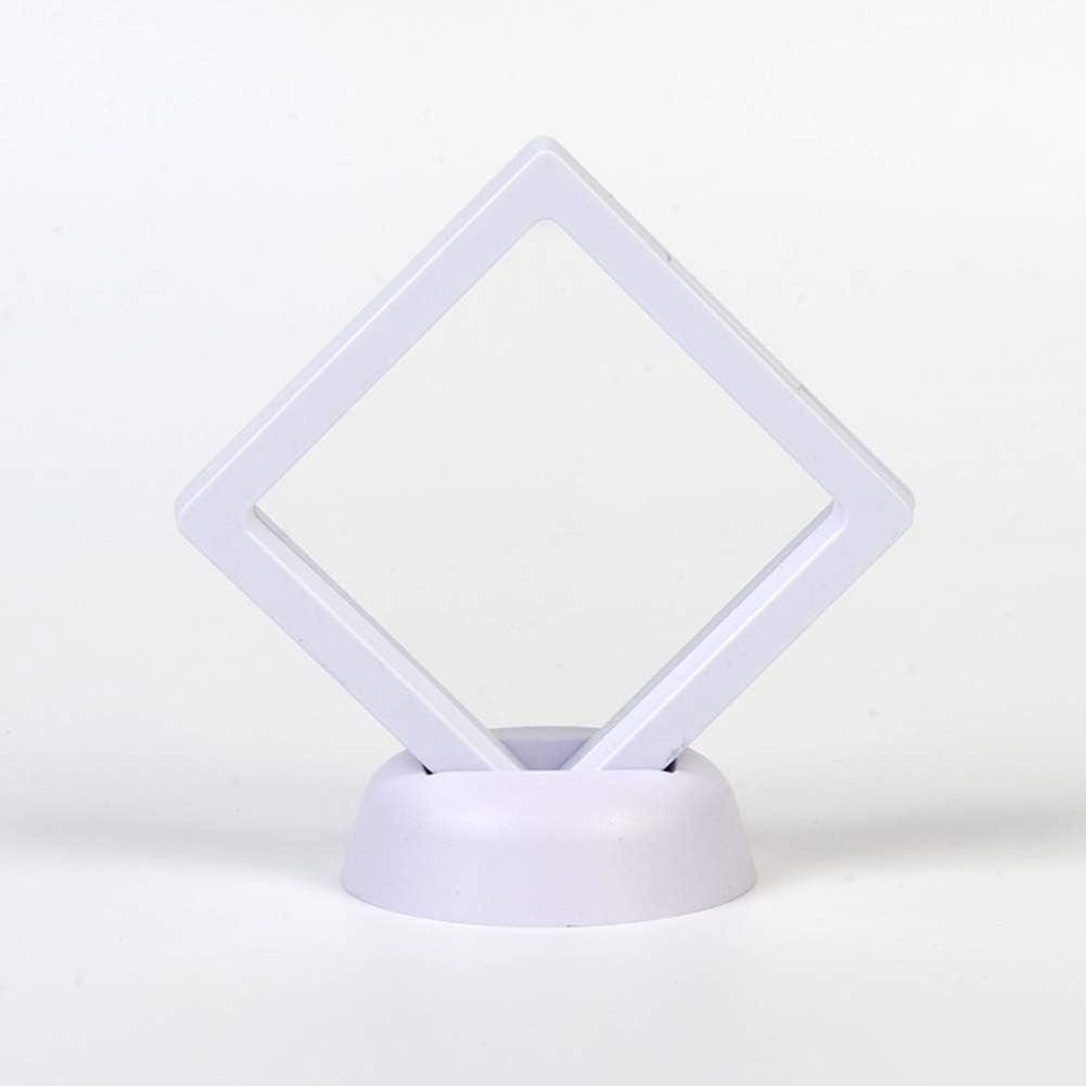 2.75x2.75inch Doolland 10 St/ück 3D Rahmen Shadow Box Schmuck Display Leere M/ünzen Rahmen Uhrenbox mit rundem St/änder Schwarz