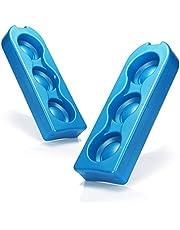 com-four® 2X Paquete frío para latas de Bebidas - Elementos refrigerantes para la Caja fría, la Bolsa de refrigeración y sobre la Marcha (2 Piezas - Puede Enfriador)