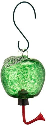ba05723 apple glass hummingbird feeder