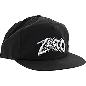 Zero Skateboards Demon Text Black Snapback Hat - Adjustable from Zero Skateboards