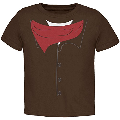 Halloween Cowboy Gunslinger Costume Toddler T Shirt Brown 2T