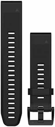 Garmin 010-12496-00 Fenix 5 Quick fit 22 Watch Band - Black Silicone
