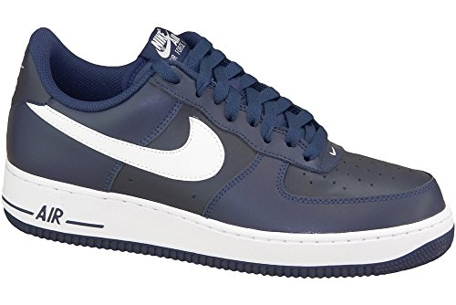 (Nike Air Force 1 Men's Shoe Midnight Navy/White 488298-436 (10 D(M))