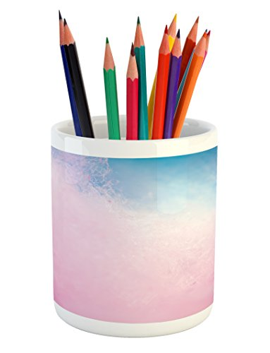 Lunarable Blush Pencil Pen Holder, Cotton Candy Effect with