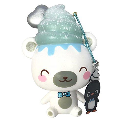Polar Bear Mint (SCENTED Creamiicandy YUMMIIBEAR Squishy! + BONUS Jenna Lyn Squishy! (Mint Scented Polar Bear))