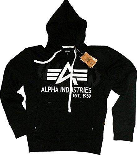 Alpha Industries Big A Classic Hoody (L, black)