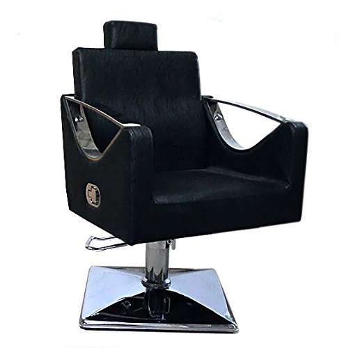 Black Salon Chair Styling Fashion Barber Hairdressing -9850 Totemic