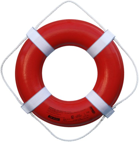 (Cal June USCG Approved Ring Buoy (20- Inch Diameter, Orange))