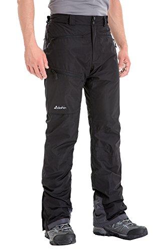 Clothin Men's Insulated Ski Pant Fleece-Lined Waterproof Snow Pants Black L(Regular Fit)