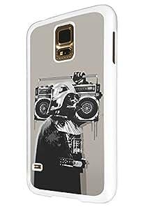 351 - Banksy Grafitti Darth Vader Design For Samsung Galaxy S5 Mini Fashion Trend CASE Back COVER Plastic&Thin Metal