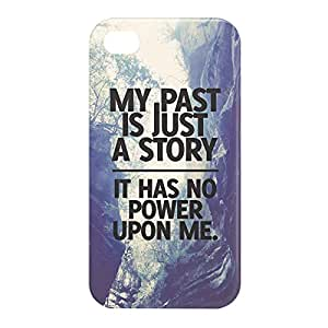 Loud Universe Apple iPhone 4/4s 3D Wrap Around My Past is Just A Story Print Cover - Multi Color