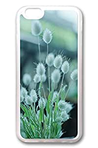 iPhone 6 Cases, Personalized Protective Case for New iPhone 6 Soft TPU Clear Edge Spring White Flower