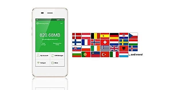 Amazon.com: Naranja Tarjeta SIM 4 G/LTE Europe móvil WiFi ...