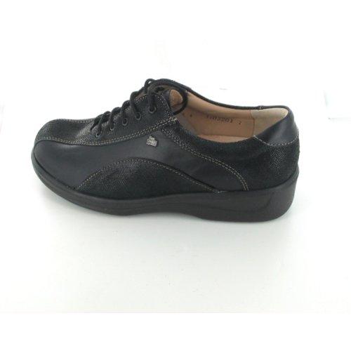 Finn Comfort - Zapatos de Cordones de terciopelo Mujer negro