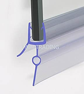 Shower screen seal glass thickness 4 6mm wing length 16mm gap hnnhome rubber plastic bath shower screen seal strip for 4 6mm glass door curved straight planetlyrics Images