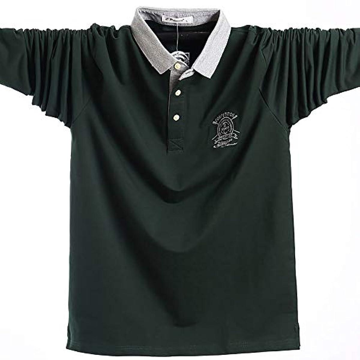 [해외] 맨즈 폴로 셔츠 POLO셔츠 긴 소매 무지 원 포인트 스포츠 축구 골프 골프 웨어 춘추동 비지니스 심플 통기성 흡한 속건
