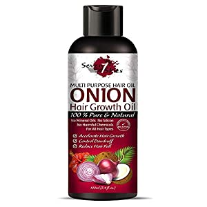 Seven Skies Onion Hair Growth Oil With Blend Of Essential Oils For Promotes Hair Growth – Controls Hair Fall & Dandruff…