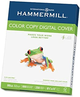 product image for Hammermill Color Copy 80 lb, Letter Size (8.5x11), Bright White Cover Stock 250/Ream (12002-3) [12 PACK]