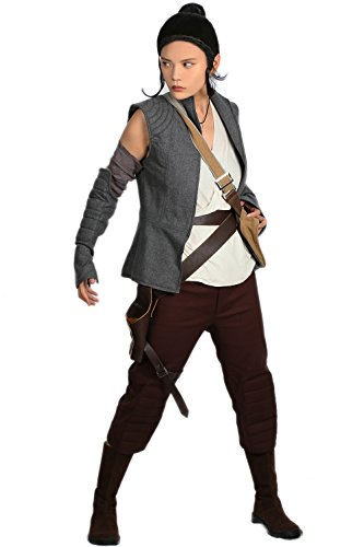 xcoser Rey Costume Deluxe Outfits Upcoming Movie SW 8 New Rey Cosplay Suit M