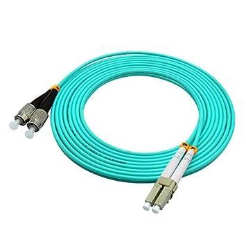 Amazon.com: Fibra Patch Cable LC a FC Duplex Multi Modo 10 G ...