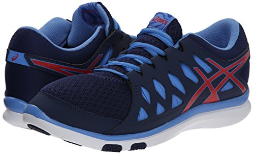 info for 8c98f b50c7 ASICS Women s Gel Fit Tempo 2 Fitness Shoe, Blue Hibiscus Powder ...