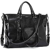 IYGO Leather Tote Bag for Women, PU Leather Fashion Top-Handle Bag Shoulder HandBag Tote Bag Waterproof Crossbody Bag