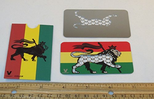 (V Syndiacate Credit Card Sized Grinder Card - Rasta Lion)