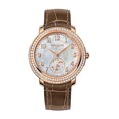 Patek-Philippe-Complications-Mother-of-Pearl-Dial-Taupe-Leather-Ladies-Watch-4968R-001