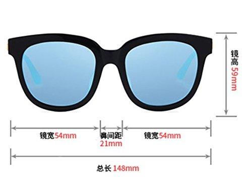 Purple marco star negro Purple Corea gafas hombres negro marea sol marca marco Komny de sol polarizadas redonda cara de retro Film non Gafas de sol Frame de gafas FxTqR