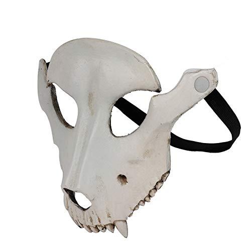 WSCOLL Calavera de Cabra de Halloween Cráneo Máscara Facial ...