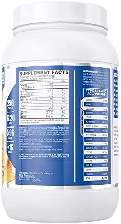 Nutrex Research IsoFit 100 Instantized Whey Protein Isolate Lactose-Free, Gluten-Free Bananas Foster 30 Servings