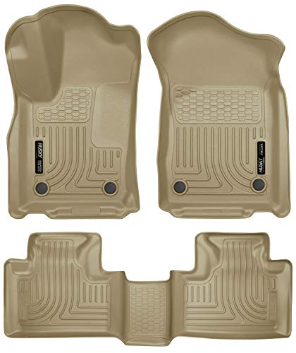 Husky Liners 99153 Tan Front & 2nd Seat Floor Liners Fits Dodge Durango, 16-19 Jeep Grand Cherokee ()