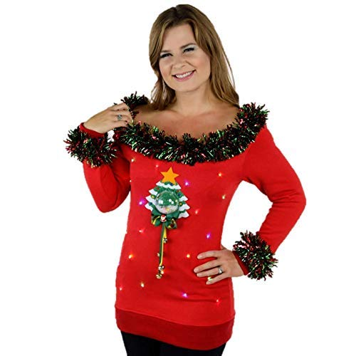 Sexy ugly christmas sweater women