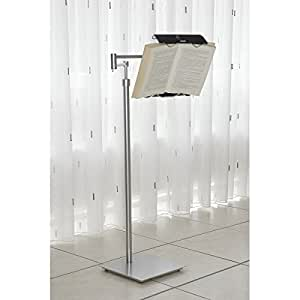 lecco book holder floor stand hands free comfortable reading w wheels home kitchen. Black Bedroom Furniture Sets. Home Design Ideas