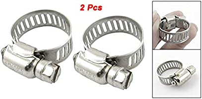 UXCE9 2 Piece Uxcell Stainless Steel Worm Drive Hose Clamps 13mm-19mm Uxcell a11092600ux0249